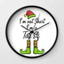 Christmas Tall Elf funny gift idea holiday xmas Wall Clock