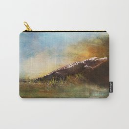 Coming Out of the Okefenokee Swamp ~ Alligator ~ Ginkelmier Inspired Carry-All Pouch