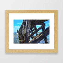 Capbreton  lighthouse Framed Art Print