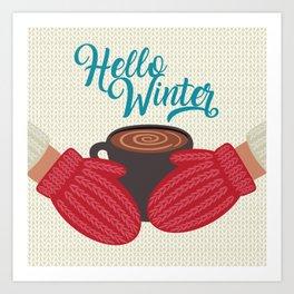 Hello, Winter Art Print