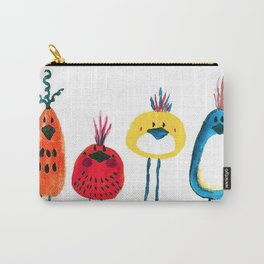 Birds in a Row Carry-All Pouch