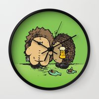 wasted rita Wall Clocks featuring Wasted by mangulica