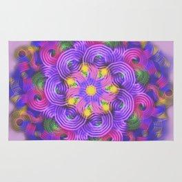 Purple Swirls Mandala Rug