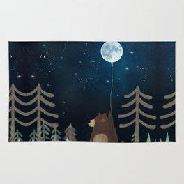 the moon balloon Rug