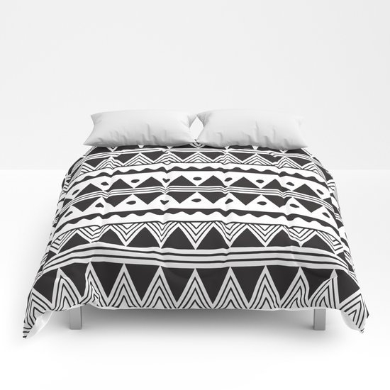 African Tribe Pattern No. 2 Comforters