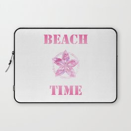 Beach Time pink Laptop Sleeve
