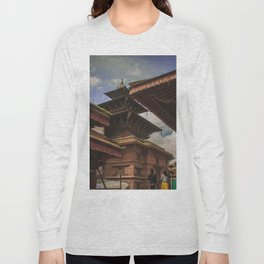 Architecture of Kathmandu City 002 Long Sleeve T-shirt