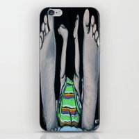 feet iPhone & iPod Skins featuring Feet by Kristy Holding