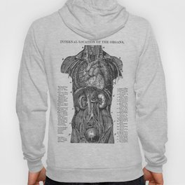 Location of Internal Organs in the Human Body Hoody