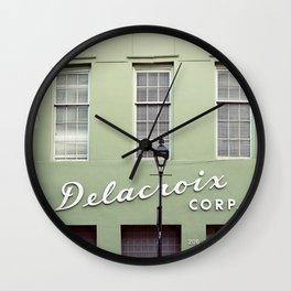 New Orleans Delacroix Building Wall Clock