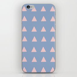 Rose Quartz Triangles on Serenity iPhone Skin