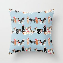 Coonhound Holiday Throw Pillow