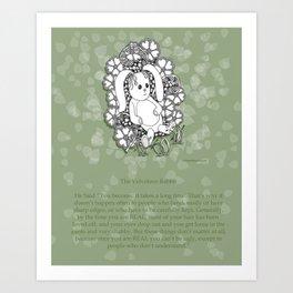 Velveteen Rabbit Wisdom Illustration for Children Art Print