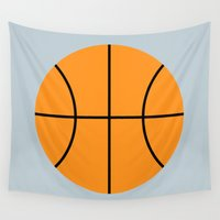 basketball Wall Tapestries featuring #9 Basketball by MNML Thing