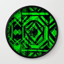 Ndebele green Wall Clock