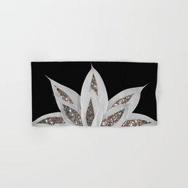 Gray Agave with Silver Glitter #1 #shiny #tropical #decor #art #society6 Hand & Bath Towel