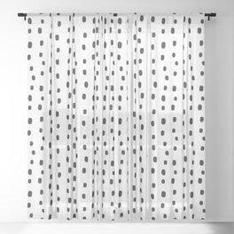 Boxy Dots Sheer Curtain