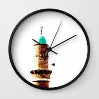 israel Wall Clocks featuring Al-Bahr Mosque, Jaffa, Israel by Philippe Gerber