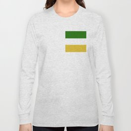TEAM COLORS 8.....Green , gold and white Long Sleeve T-shirt