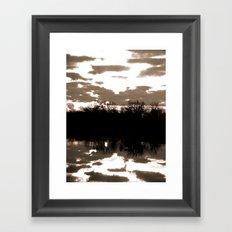halloween sunrise Framed Art Print