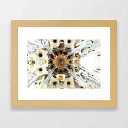 Sagrada Cathedral Sky Framed Art Print