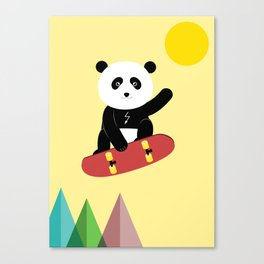 Panda on a skateboard Canvas Print