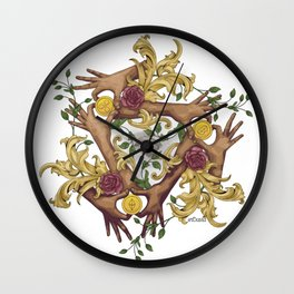 Hands and Coins Wall Clock