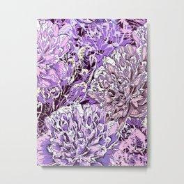Flowers - blue mood Metal Print