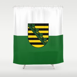 flag of Sachsen (historic state) Shower Curtain