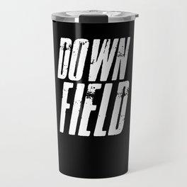 American Football Downfield Travel Mug
