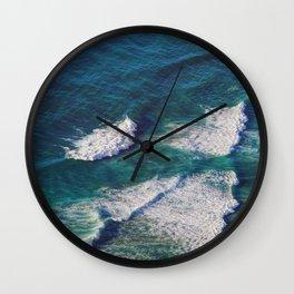 Waves Crashing Wall Clock