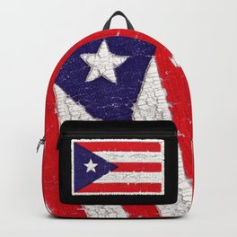 Puerto Rican flag with distressed textures Backpack