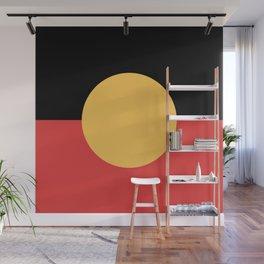 Australian Aboriginal Flag Wall Mural
