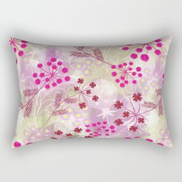 bright floral pattern ,watercolor background. Rectangular Pillow