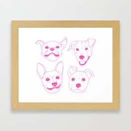 Very Good Pups Framed Art Print