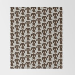 Chocolate Dachshund Throw Blanket