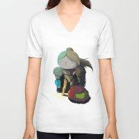 samus V-neck T-shirts featuring Samus by Rod Perich