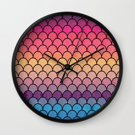 Watercolor Lovely Pattern CI Wall Clock