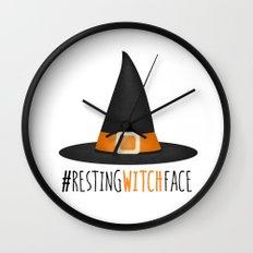 #RestingWitchFace Wall Clock