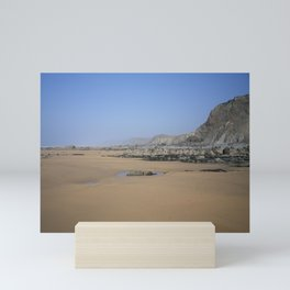 SANDYMOUTH BEACH NORTH CORNWALL FROM MENACHURCH POINT Mini Art Print