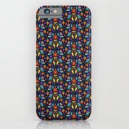 Otomi Mexican Flower Pattern Gift iPhone Case