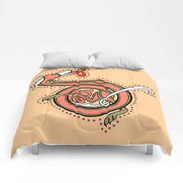 Celtic Fox Letter D Comforters