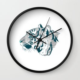 Grayscale Tiger Wall Clock