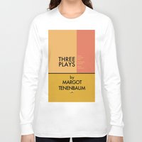 tenenbaum Long Sleeve T-shirts featuring Three Plays By Margot Tenenbaum by FunnyFaceArt