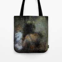 imagerybydianna Tote Bags featuring among her declining days by Imagery by dianna