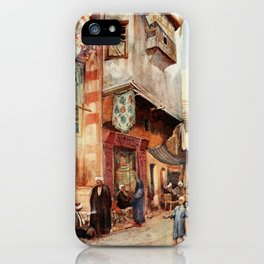 Tyrwhitt, Walter (1859-1932) - Cairo, Jerusalem, and Damascus 1912, A street scene in Cairo iPhone Case