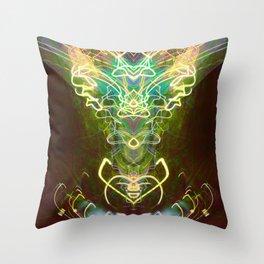 Satyrical Electricity Throw Pillow