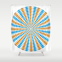bender Shower Curtains featuring Abstract Mind Bender 2 by Gabriel J Galvan