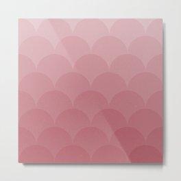 Pink Magic Mermaid Scales Pattern Metal Print