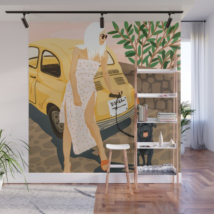 Tour #illustration Wall Mural